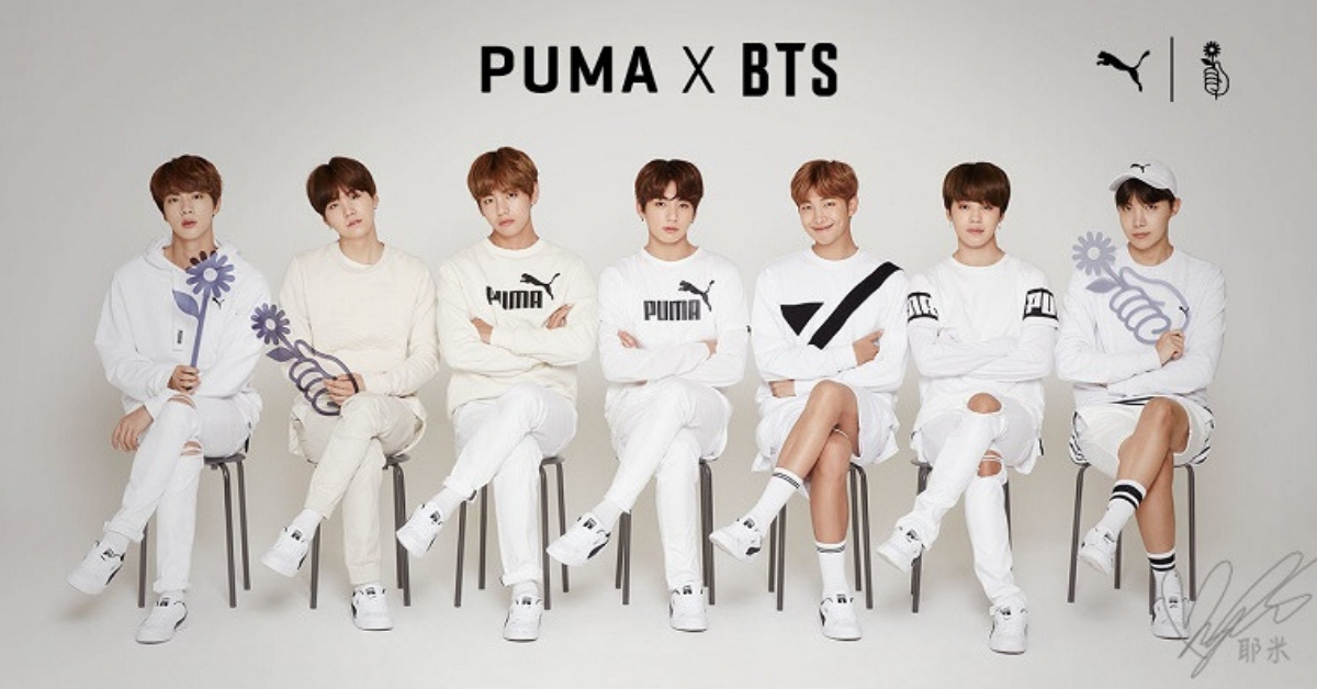 the best attitude 76f6c 90e36 Puma Join Forces With BTS By Launching Their Latest Sneakers ...