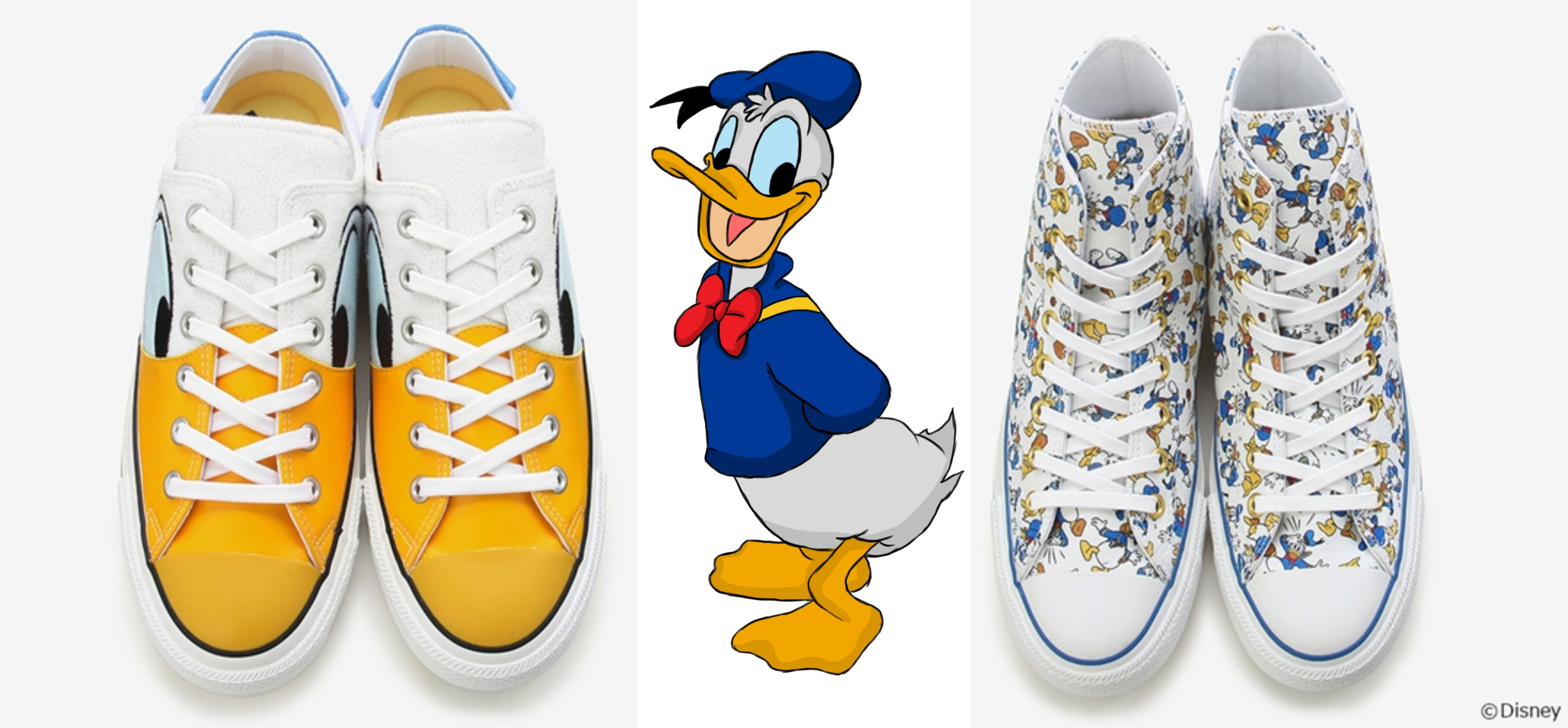745d87e8e010 Here s The First Look At Converse x Disney Donald Duck 100th Anniversary  Collection